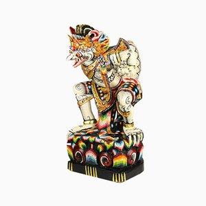 Bunte Handgeschnitzte Balinesische Skulptur