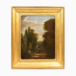 Landschaft, Ölgemälde auf Holz, Erste Hälfte 19. Jh