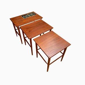 Side Tables, 1960s, Denmark, Set of 3