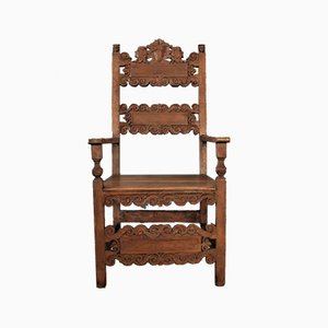 Carved Throne Chair, 1880s