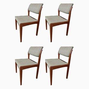 Vintage dänische Teak Esszimmerstühle von Bramin, 4er Set