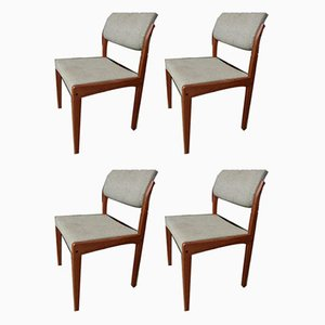Vintage Danish Teak Dining Chairs from Bramin, Set of 4