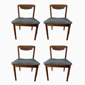 Vintage dänische Art Esszimmerstühle, 4er Set