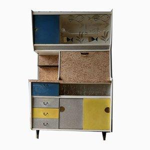 Large Vintage British Freestanding Kitchen Dresser Unit Cupboard from Wolfe & Hollander, 1960s