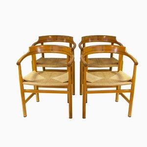 Chaises d'appoint PP62 par Hans J. Wegner, 1960s, Set de 4