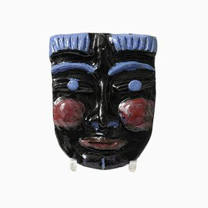 Ceramic Wall Mask from Jaques, 1980s