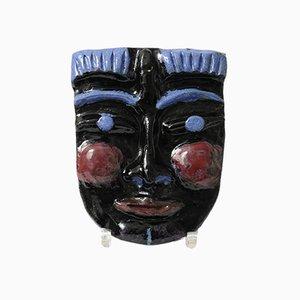 Máscara de pared de cerámica de Jaques, años 80
