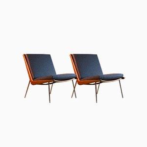 Boomerang Chairs von Peter Hvidt & Orla Molgaard-Nielsen für France & Son, 1950er, 2er Set