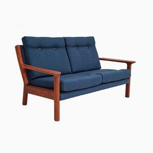 Skandinavisches Sofa aus Teak & Wolle, 1970er