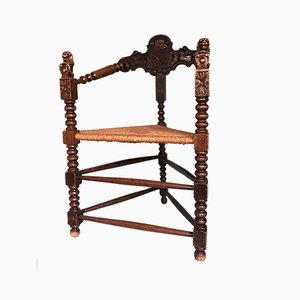 Sedia olandese antica con treppiede