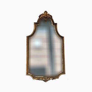 Art Deco Carved Giltwood Hanging Mirror