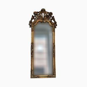 Large Art Deco Carved Giltwood Penant Mirror