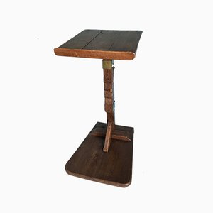 Art Deco Oak Adjustable Side Table