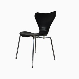 Vintage Black Seven Dining Chair from Fritz Hansen, 1970s