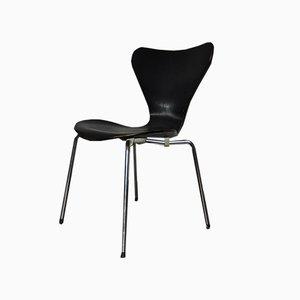 Vintage Black Seven Stuhl von Fritz Hansen, 1970er