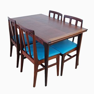 Extendable Dining Table & Chairs Set by Robert Heritage for A. Younger Ltd., 1960s, Set of 5