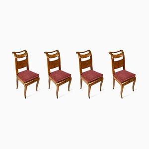 Director Stühle aus Ahornholz, 1800er 4er Set
