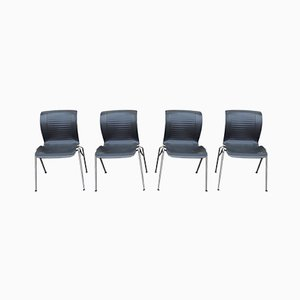 Chromed Steel Dining Chairs from Fritz Hansen, 1993, Set of 4