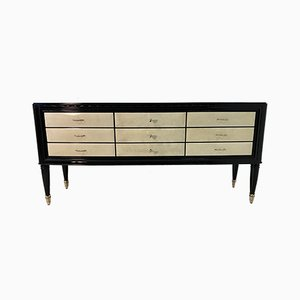 20th-Century Art Deco Italian Parchment and Brass Dresser