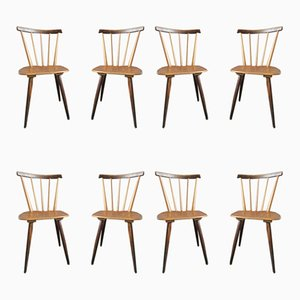 Scandinavian Dining Chairs, 1950s, Set of 8