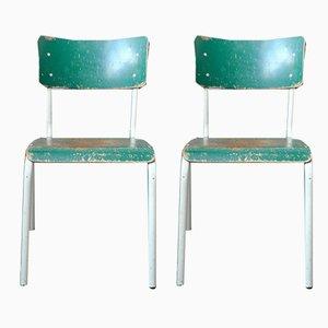 Industrielle Esszimmerstühle, 1970er, 2er Set