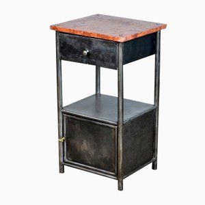 Polished Iron Nightstand, 1920s