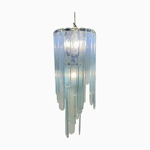 Opalescent Murano Glass Model Cascade Chandelier by Carlo Nason for Mazzega