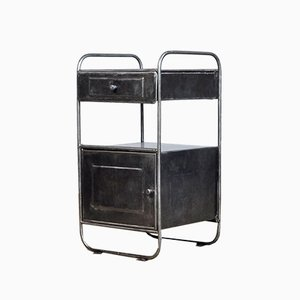 Iron Bauhaus Nightstand, 1930s