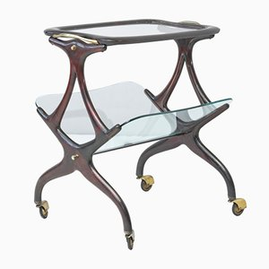 Table on Castors by Cesare Lacca for Cassina, 1950s