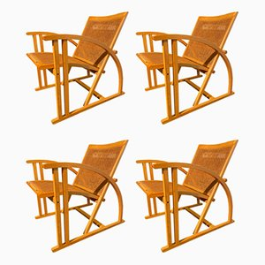 Arc Lounge Chairs by Pascal Mourgue for Triconfort, 1983, Set of 4