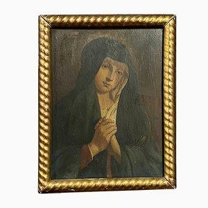 Französische Schule XIX, von der Heiligen Jungfrau, Öl auf Holzplatte