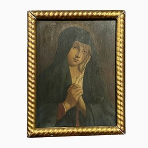 French School XIX, from the Holy Virgin, Oil on Panel