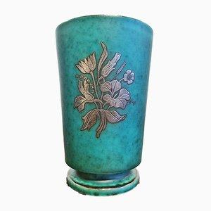Argenta Vase mit Silberauflage von Wilhelm Kåge für Gustavsberg