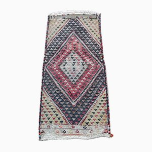 Vintage Geometric Cicim Kilim Carpet, 1970s