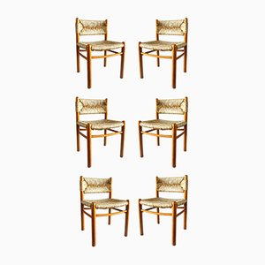 Dordogne Side Chairs by Charlotte Perriand for Robert Sentou, 1960s, Set of 6