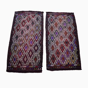 Vintage Geometric Jaja I Cicim Carpets, 1970s, Set of 2