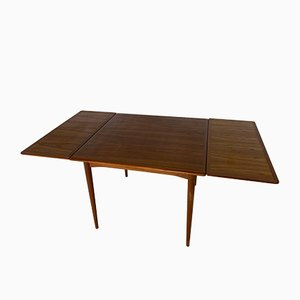 Vintage Scandinavian Teak Extendable Dining Table, 1960s