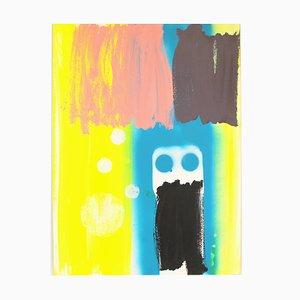 Lunesed, Pintura acrílica sobre cartón