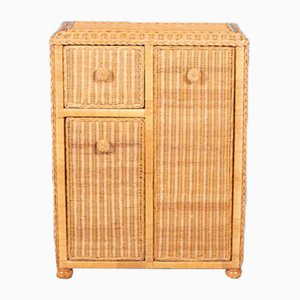 Vintage Wicker Cupboard, 1970s