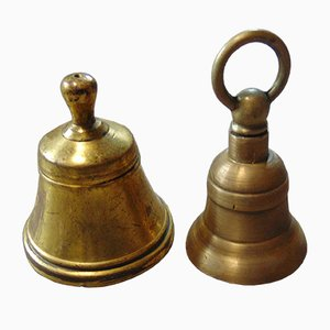 Vintage Pre-War Brass Bells, Set of 2