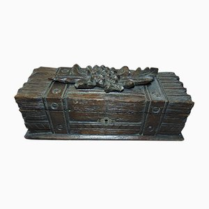 Vintage Pre-War Carved Box with Grapes