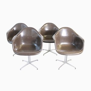 Armchairs by Charles & Ray Eames for Herman Miller, 1960s, Set of 4