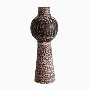 Mid-Century Lava Glasur Vase von Gudrun & Ralf Unterstab für Kunsttöpferei Unter Tischplatte, 1960er