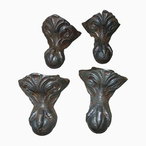 Cast Iron Eagle Claws, Set of 4