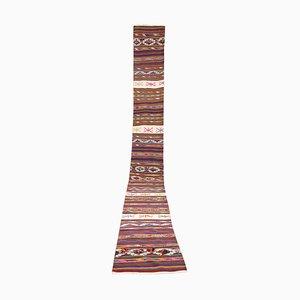 Extra langer türkischer Vintage Kilim Teppich, 1970er
