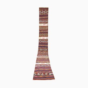 Extra Long Vintage Turkish Kilim Rug, 1970s