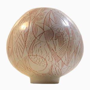 Ovoid Keramikvase von Nils Thorsson für Royal Copenhagen, 1950er