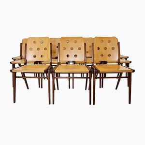 Esszimmerstühle von Franz Schuster für Wiesner-Hager, 1950er, 12er Set