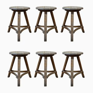 Vintage Stools, Set of 6