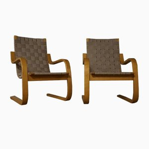 Model 406 Armchairs by Alvar Aalto for Artek, 1960s, Set of 2